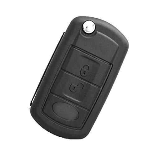 Center Strip Spray (YSHtanj Autoschlüssel Gehäuse Zündsystem Schlüssel Cover 3 Tasten Fernbedienung Flip Auto Schlüssel Hülle Shell für Land Rover LR3 Discovery)