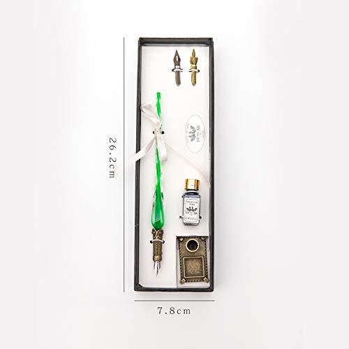 Glas stift/glas stift und stift ink converter, kreative glas stift stift, kristall stift, hand stift. 19,6 cm