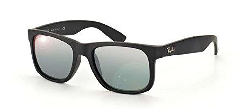 RayBan Justin RB4165 622/6G 55 Rubber Black/Grey Mirror Silver