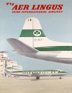 Mugs-n-More Vintage aeromobile dalle compagnie aeree per mouse con ventosa Aer Lingus (Aerei Ventose)