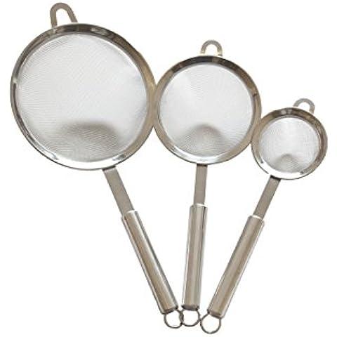 Cookhouse alimentos colador Set–Premium Fine juego de filtros de malla fina de acero inoxidable, escurridor y tamices–Juego de