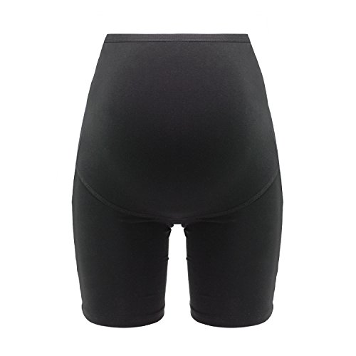 Braguita de premamá de pierna larga, ideal para el embarazo y el posparto, y hecha a partir de una mezcla de materiales de alta calidad en beige-negro, Herzmutter, 5000 (L, Negro)