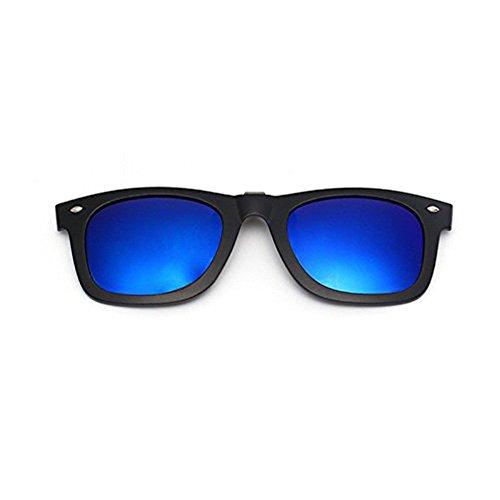 Sonnenbrillengläser zum Aufstecken auf Brillen verspiegelt polarisiert dunkelblau für Damen und Herren