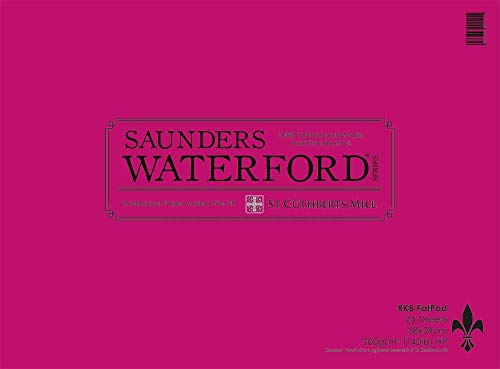 Saunders Waterford 7.5x11in Spiral Fat Pad 25 Sheets Rough