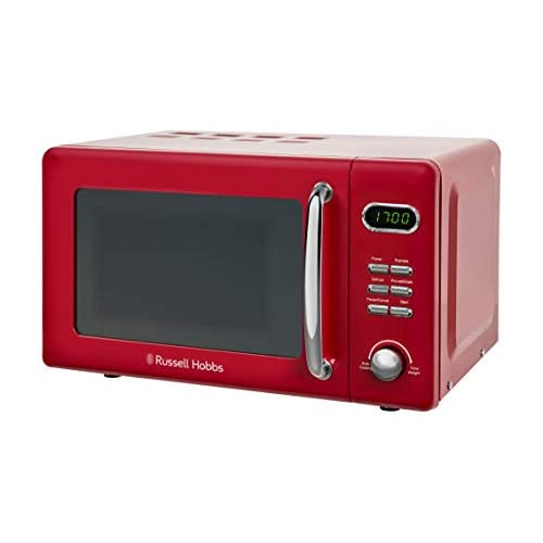 31QKR%2Bpm0CL. SS500  - Russell Hobbs RHRETMD806R Solo Microwave, Red, 17 liters