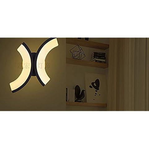 Lámpara de pared de interior / exterior / en forma de X / modelado / acrílico / muro / E27 220V / bombillas no incluidas