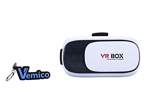 Vemico-3D-VR-Gafas-VR-Headset-Virtual-Reality-Devices-VR-Box-con-correa-ajustable-para-iPhone-766-Plus-5-5S-Samsung-S3-Edge-y-35-6-pulgadas-de-Smartphone-con-3D-VR-Panaramic-Pelculas-y-juegos