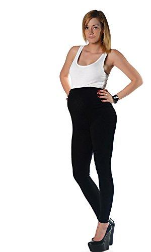 Umstands Leggings in vielen Farben Baumwolle mit Lycra Gr. S M L XL XXL 3XL Schwarz 2XL/44