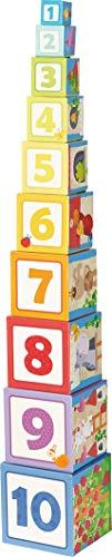 HABA 302030 - Stapelwürfel Rapunzel, Kleinkindspielzeug (Holz-würfel-turm)