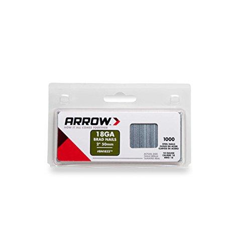 Arrow BN1832 Boîte de 1000 Pointes à tête pour agrafeuse 50 mm