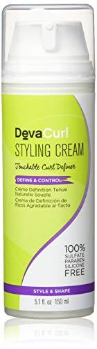 DevaCurl Styling Cream - cremas para el cabello (Mujeres, Curly hair, Fijación, Protección, Jojoba and Wheat Proteins, Hops, Tapioca Starch, How to Use it)