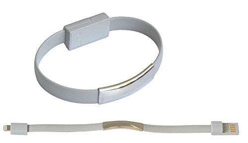 Braccialetto / Cavo di carica / Cavo dati / Chiave USB per iPhone 6, 6 Plus, 5, 5S, 5C / iPad 4, Mini, 2, 3, 5 Air, Air 2 / iPod Touch & Nano - in Grigio di OKCS
