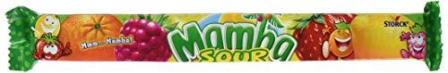 Mamba Kaubonbon Sauer - Fruchtig-saurer Süssigkeiten Mix - Fröhliche Bonbons zum Naschen für dieganze Familie - (24 x 4er Stangen)