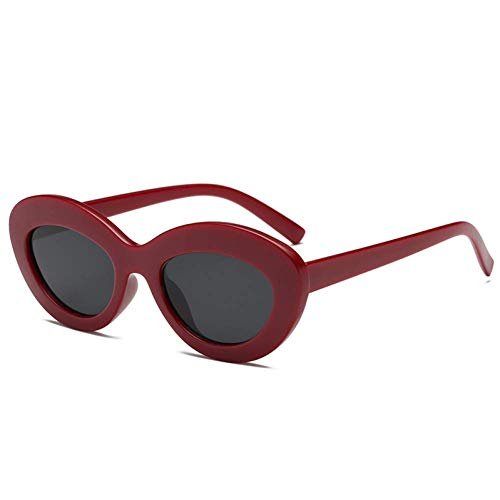 YHEGV Mode Oval Cat Eye Sonnenbrille Frauen 'S Vintage Cateye Sonnenbrille Weiblichen Dicken Rahmen Schwarze Brille Shades