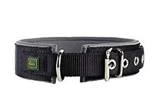 Hunter Reflect Neoprene Halsband für Hunde,schwarz/grau,Größe  55, 44 - 51 cm, 45 mm