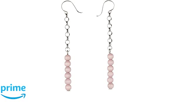 Aarikka ARIEL earrings with wooden beads, 7 cm long, rose