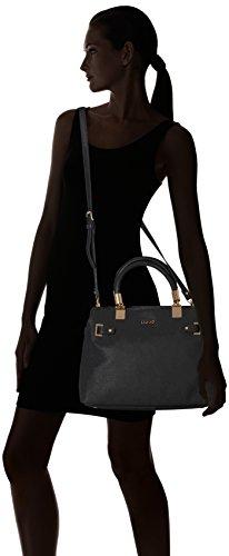 liu jo - Nimes Shopper, Borse Tote Donna Nero (Black)