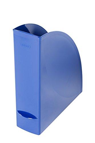 ELBA 400091711 Stehsammler wave 4er Pack aus Kunststoff 100% recyclebar, robust, hochwertig und schick blau Archivbox Zeitschriften-Sammler Dokumenten-Ordner