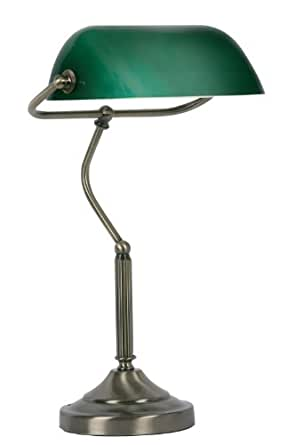 Bankers Table Lamp Antique Brass Finish