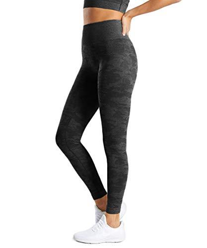 FITTOO Damen Yoga Leggings Neunte Hose Farbe Blocking Camouflage Hose Workout Laufleggings Strumpfhosen Slimming Seamless Pants Farbe Leggings