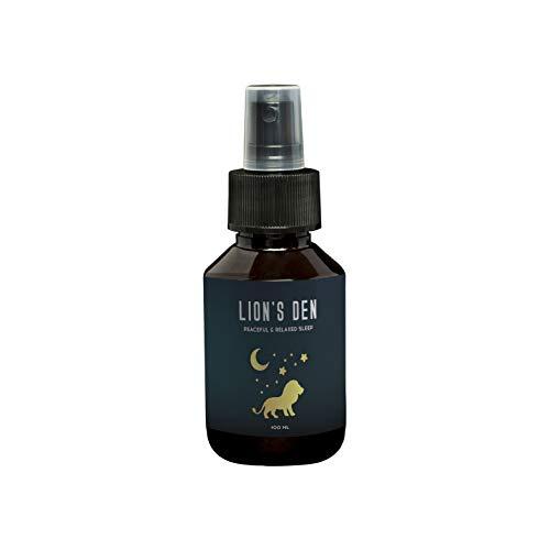 Schlafmittel-Spray mit ätherischen Ölen von LION'S DEN 100 ml I Wirkt Schnell & Effektiv Natürliche & organische Schlaf Unterstützung I Nachhaltige Alternative zu Schlaftabletten -