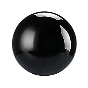 Neewer 80mm/3.15inch Black Crystal Ball Globe with a Crystal Stand for Feng Shui/Divination or Wedding/Home/Office Decoration