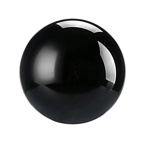 Galleria fotografica Neewer 60mm Sfera di cristallo globo sfera cristallo con supporto per germogli creative, Feng Shui divinazione, wedding Home Office decorazione (nero)
