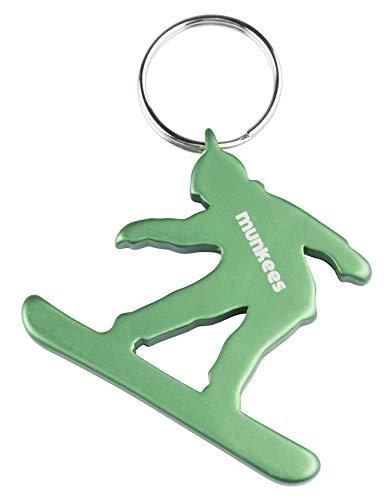 munkees Schlüsselanhänger Snowboard-Figur Flaschenöffner Sport-Fans, Grün, 34955