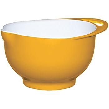 KitchenCraft Colourworks Melamine Mixing Bowl, 22 cm - Yellow