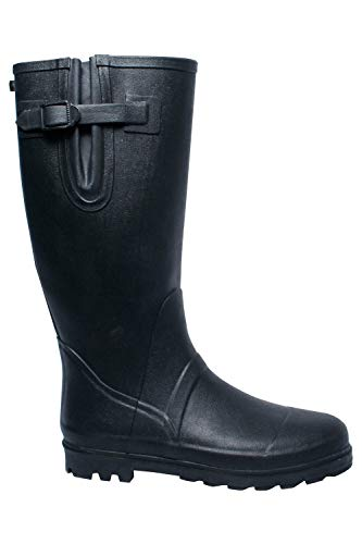 Mountain Warehouse Mens Wellies - 40cm High, 100% Rubber Outsole Shoes, Durable Rain Shoes, Cotton Lining & Easy to Clean Wellington Boots -for Wet & Cold Weather