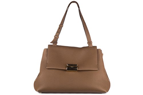Salvatore Ferragamo borsa donna a mano shopping in pelle nuova ginger marrone