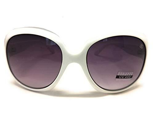 GG Eyewear Women's Designer Sunglasses - Full UV400 Protection - Women Fashion Sunglasses - Model : GG Sharp With FREE Case GR018-White