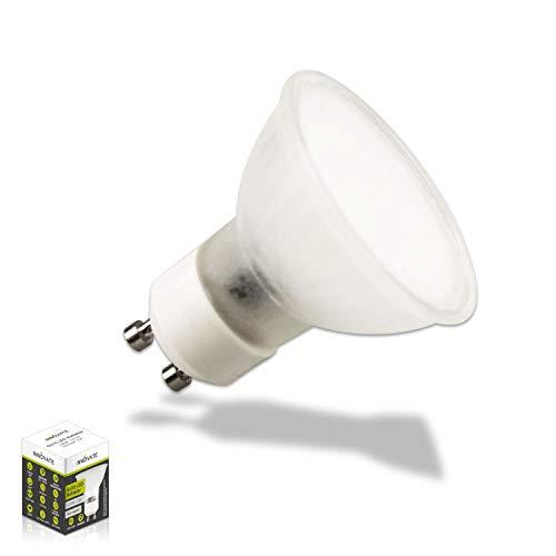 GU10 LED Leuchtmittel Reflektor dimmbar 3W warmweiß opal frosted rundumstrahlend von INNOVATE® (1x GU10 LED Spot warmweiß frosted satiniert) (Persönliche Reflektoren)