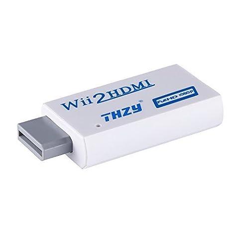 Wii vers HDMI Convertisseur,THZY Wii HDMI 720P/1080P Convertisseur HD Upscaling