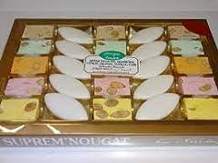 Idea Regalo - Bustina regalo assortimento provenzale di torrone di Montelimar Nougat tendere Disk Nero Ostia e piccoli dolci di Provence 200g