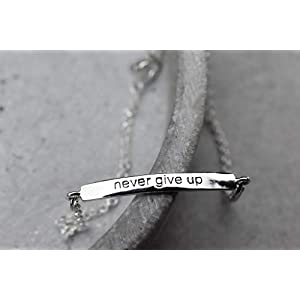 "925 Sterling Silber""Never give up!"" Armband"