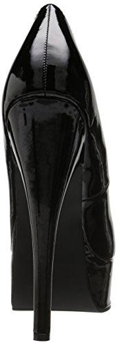 Ellie donne sexy con tacco alto scarpe con tacco 15,2cm in viola classico pompa Black
