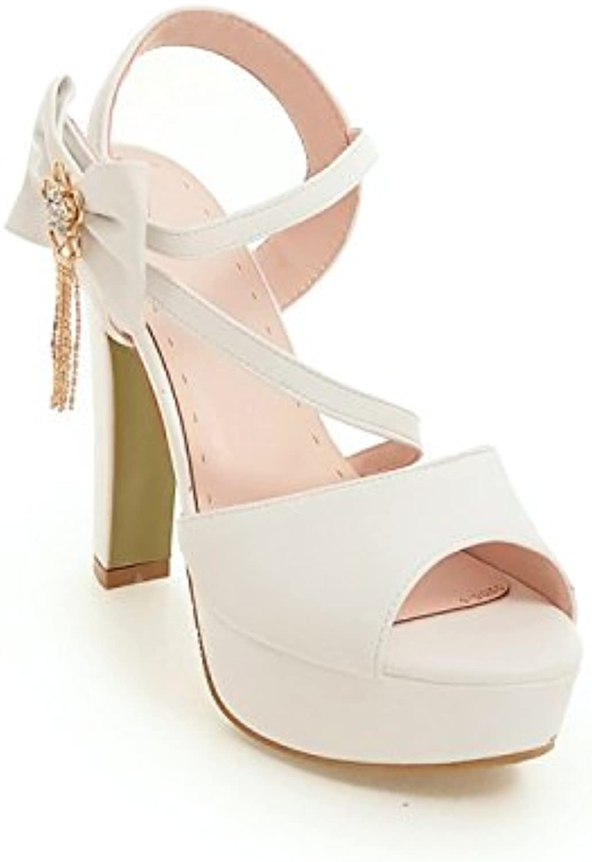 SHOESHAOGE Sandalias De Verano Mujer Gruesa Y Super High Heel Zapatos Boca De Pescado Dulce Nudo Mariposa Una...