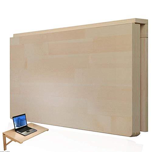 Lebendes Büro/einfacher Ablagetisch An der Wand montierter Tisch Laptop Ständer Schreibtisch Multifunktionsklapptisch Schreibtisch Langlebig Platzsparend, 14 Größen (Farbe: Holzfarbe, Größe: 50x30cm
