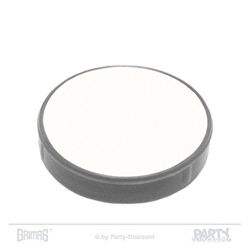 Grimas Crème-Make-up Pure 60 ml, Farbe 001 - Weiß, Theaterschminke, Fettschminke, Theater-Make-Up, Top-Qualität