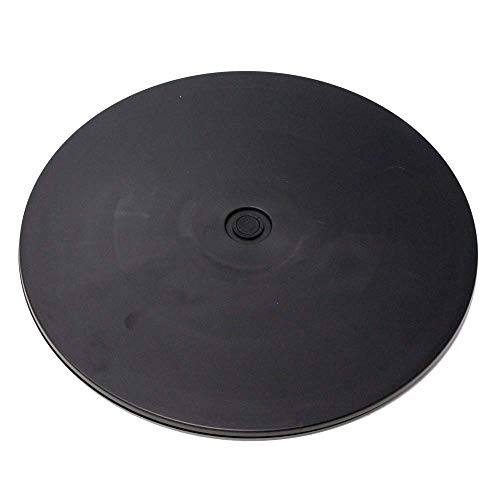 Cablematic - Base giratoria manual de 30,6 cm. Plataforma rotatoria de color negro