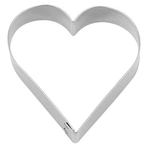 Städter Cookie Cutter Heart Tin, Diameter 15cm, tinplate, silber, 15 x 15 x 3 cm