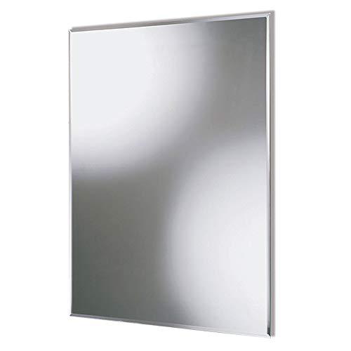 Aica Sanitär Faccettenspiegel N1 Serie, 90×60 cm, 5 mm stark, Wandspiegel Badspiegel Kristallspiegel Garderobenspiegel