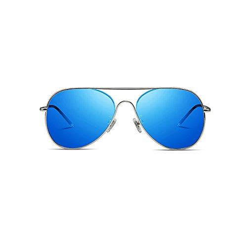Lunettes Lunettes de soleil polarisées unisexe ( couleur : Bleu ) Bleu