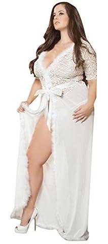 Lingerie Coquine Grande Taille - La Vogue Lingerie Robe Longue Princesse Babydoll