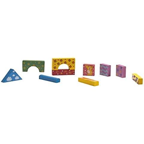Cosas - Construcción madera en baúl. 44 piezas, multicolor (601162)