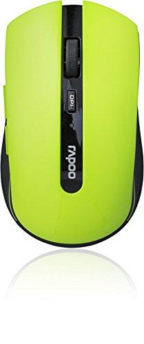 Rapoo 7200P kabellose Maus (5 GHz Wireless, optisch, 1000 DPI umschaltbar, 6 Tasten + 4D Mausrad, Nano-USB für PC, Laptop, iMac, Macbook, Microsoft) grün - Grüne Maus
