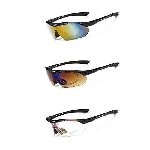 DD/LZY Brillen, Sonnenbrillen, Explosionssichere Sonnenbrillen, Herren- Und Damen-Design Von Schutzbrillen Zum Jagen, Laufen, Skifahren, Baseball, Golf, Fahrrad, Motorrad, Angeln Und Fahren, B