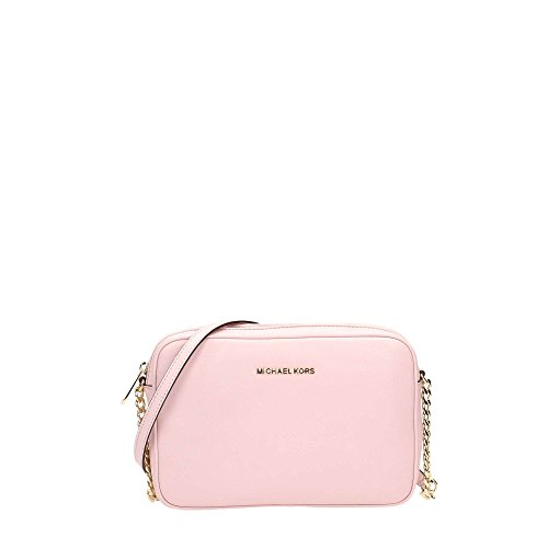 Michael Kors Borsa A Tracolla In Pelle Bedford Catena Fiore Pink Leather