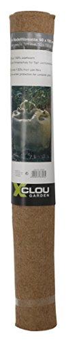 Vlies-haube Hat (Xclou Jute Nadelfilzmatte in Beige, Schutzsack für Pflanzen, Frostschutz für Topf- und Kübelpflanzen, Schutzmatte für optimalen Schutz vor Kälte und Sonne im Winter)
